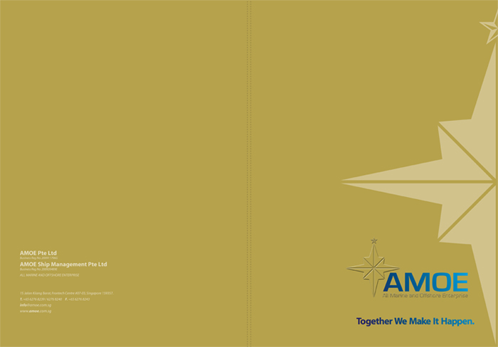 AMOE | Corporate Folder Design