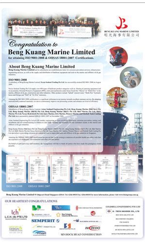 Beng Kuang Marine Limited | Newspaper ADesign