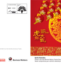 Borneo Motors - Toyota | Direct Mailer Design