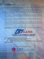 Gates Electronics Limited | Graphic Design