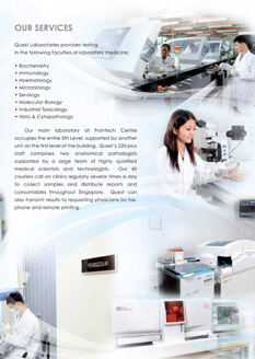 Quest Laboratories | Corporate Brochure Design