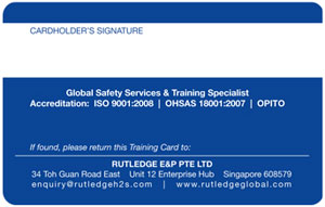 Rutledge | Training ID Card Design
