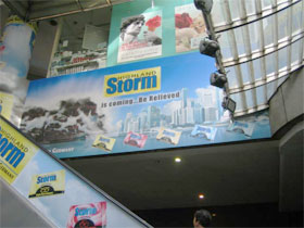 Storm Lozenges Ambient Advertising